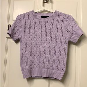 Forever 21 Cable Knit Top - Purple